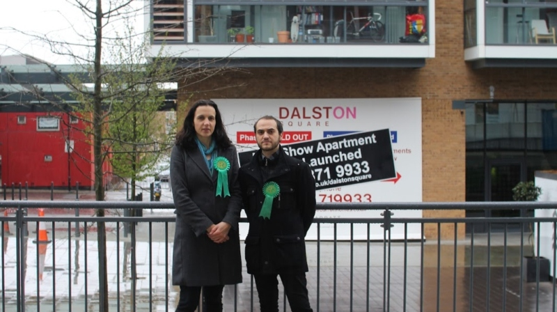 Caroline and Mustafa at Dalston Square